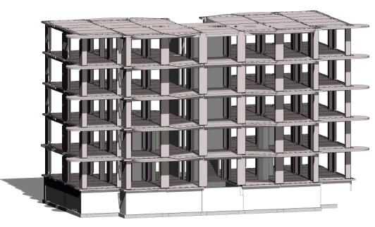 Каркас пятиэтажного многоквартирного жилого дома